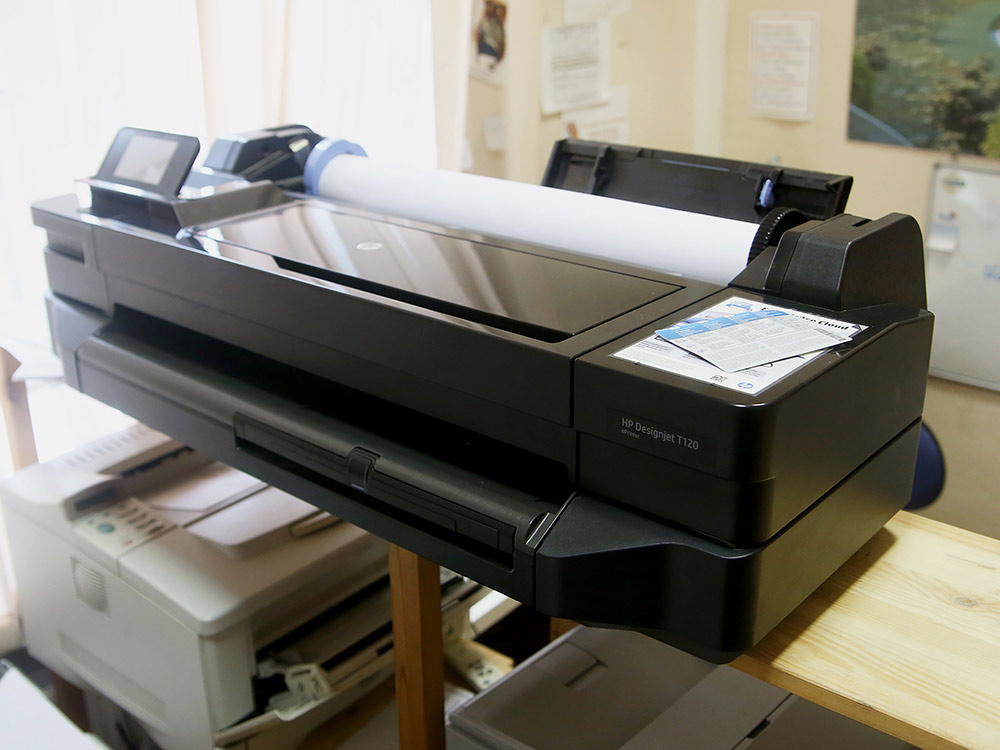 Принтер под форматы А2 и А1 — на таких выводят архитектурные чертежи