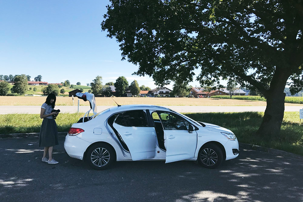 Наша машина во время путешествия по Баварии в 2017 году