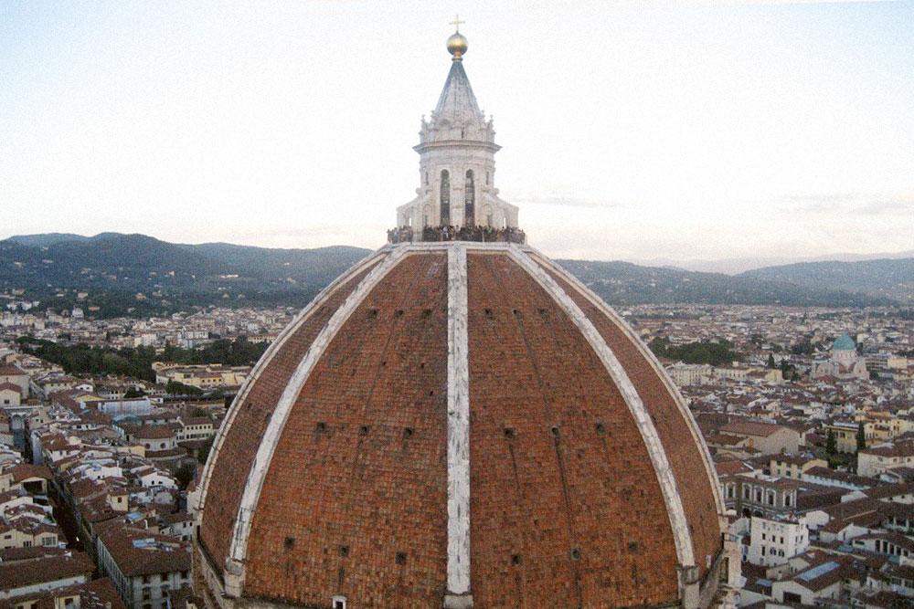 Вид на купол Дуомо с колокольни Джотто