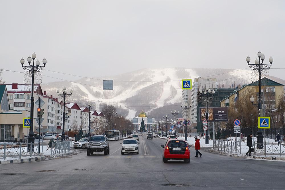 Проспект Победы в Южно-Сахалинске