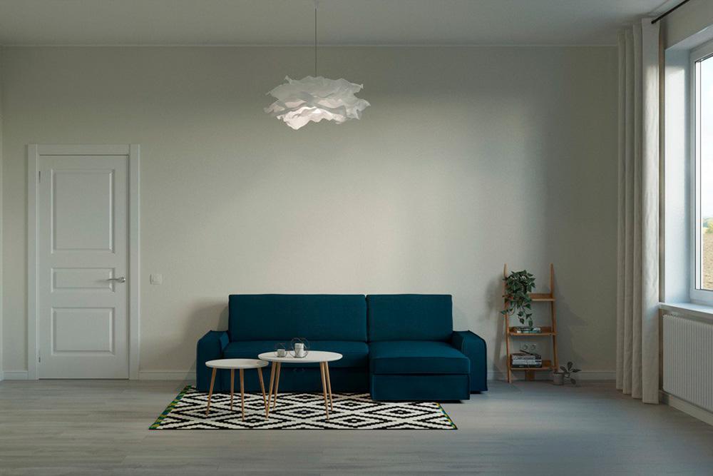 Скандинавский стиль: светлые стены, белые двери, натуральные материалы и яркие цвета
