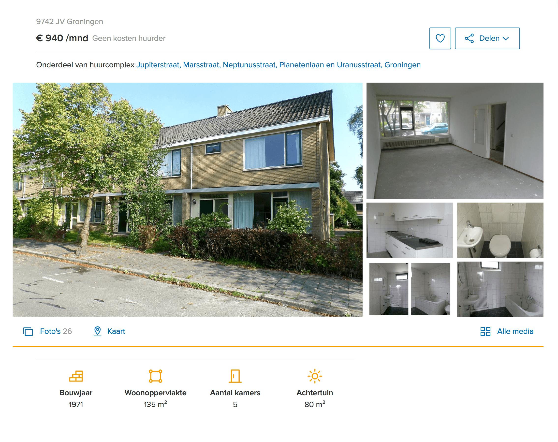 Квартира за 940€ (73 320<span class=ruble>Р</span>) в месяц площадью 135 м² сдается без напольного покрытия — при&nbsp;въезде жильцов ждет бетонный пол
