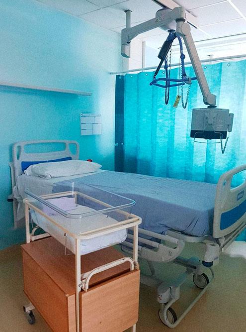 Так выглядят постродовые палаты в родильном отделении госпиталя