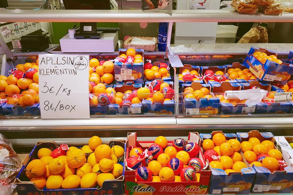 Апельсины в Таллине почти в 3 раза дороже, чем в Питере
