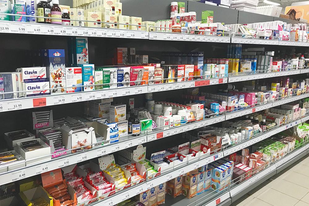 В «Селвере» даже витамины и БАДы продают
