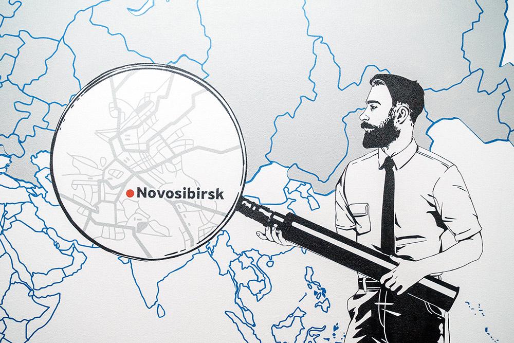 Расписанный офис Тинькофф-банка в Новосибирске