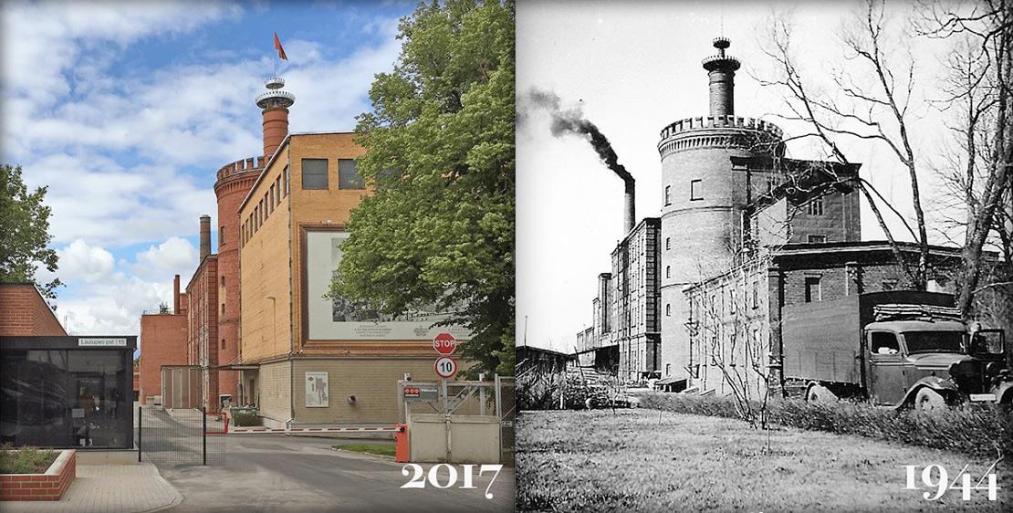Тартуский пивоваренный завод — сейчас и тогда. Источник фото: официальный инстаграм-аккаунт пивоварни A Le Coq
