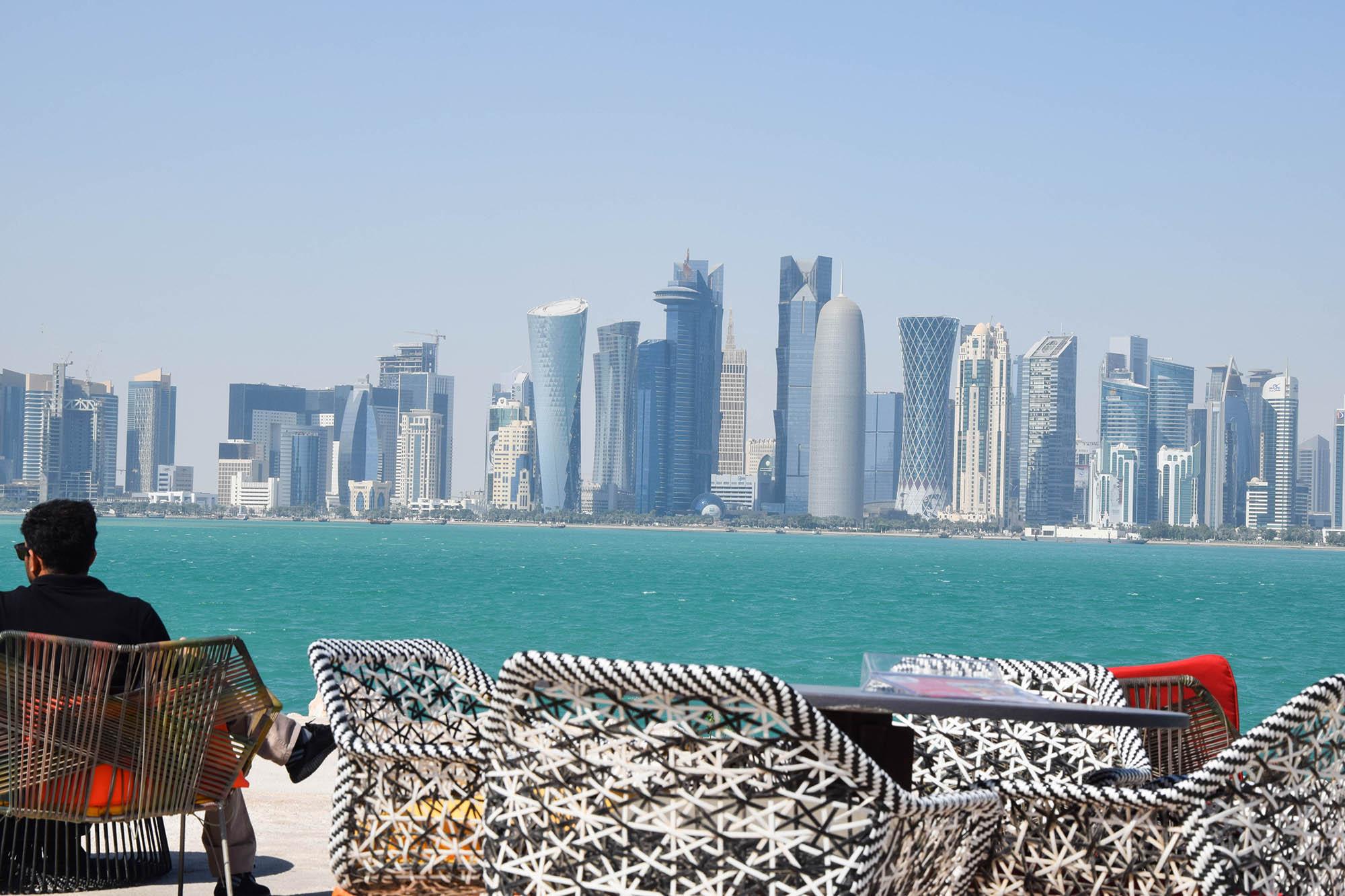 Вид на Вест-бэй из кафе на территории Музея исламского искусства