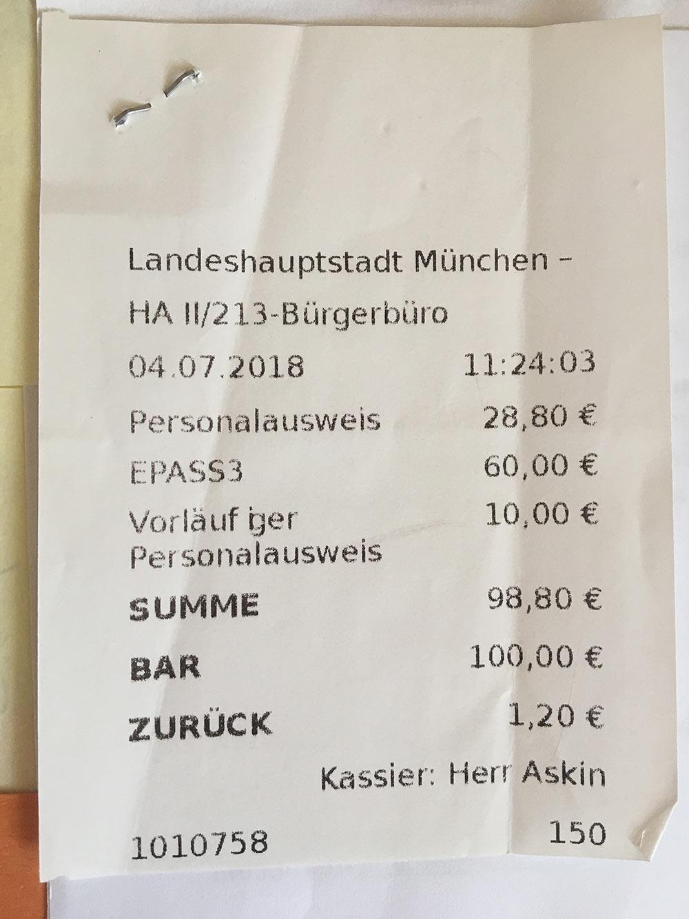 Мой чек за три паспорта: основной, заграничный и временный
