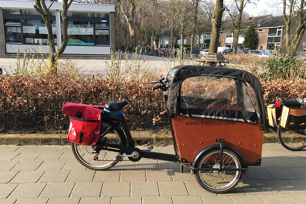 Велосипед с тележкой для 2-3 детей
