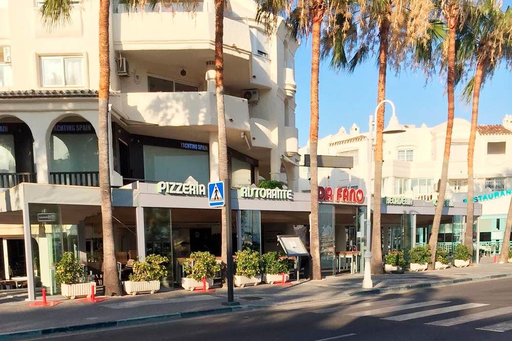 Знаменитая пиццерия в Пуэрто-Марина в Бенальмадене