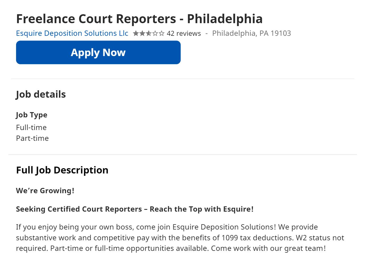 А вот зарплату судебного репортера-фрилансера не раскрывают