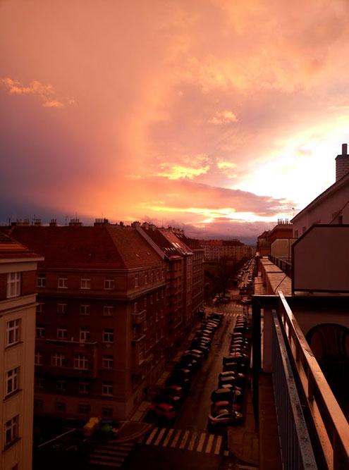 Улица в Праге, на которой я живу