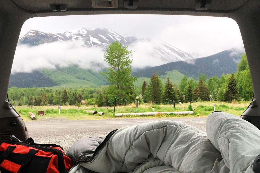 Так я ночевал на Аляске в июне 2017года