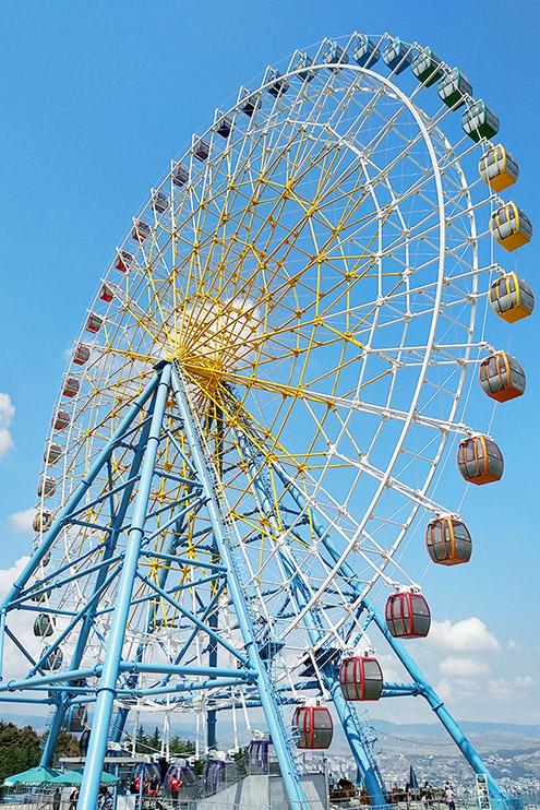 Билеты на колесо обозрения продаются в маленьких кассах внутри парка. Прокатиться на колесе стоит 5 ₾ (125<span class=ruble>Р</span>) с человека