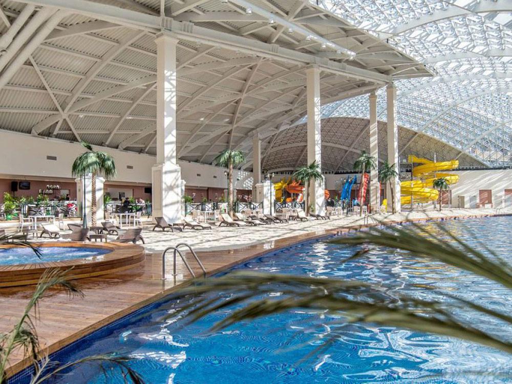 Аквапарк «Горный пляж». Источник: официальный сайт курорта «Горки Город»