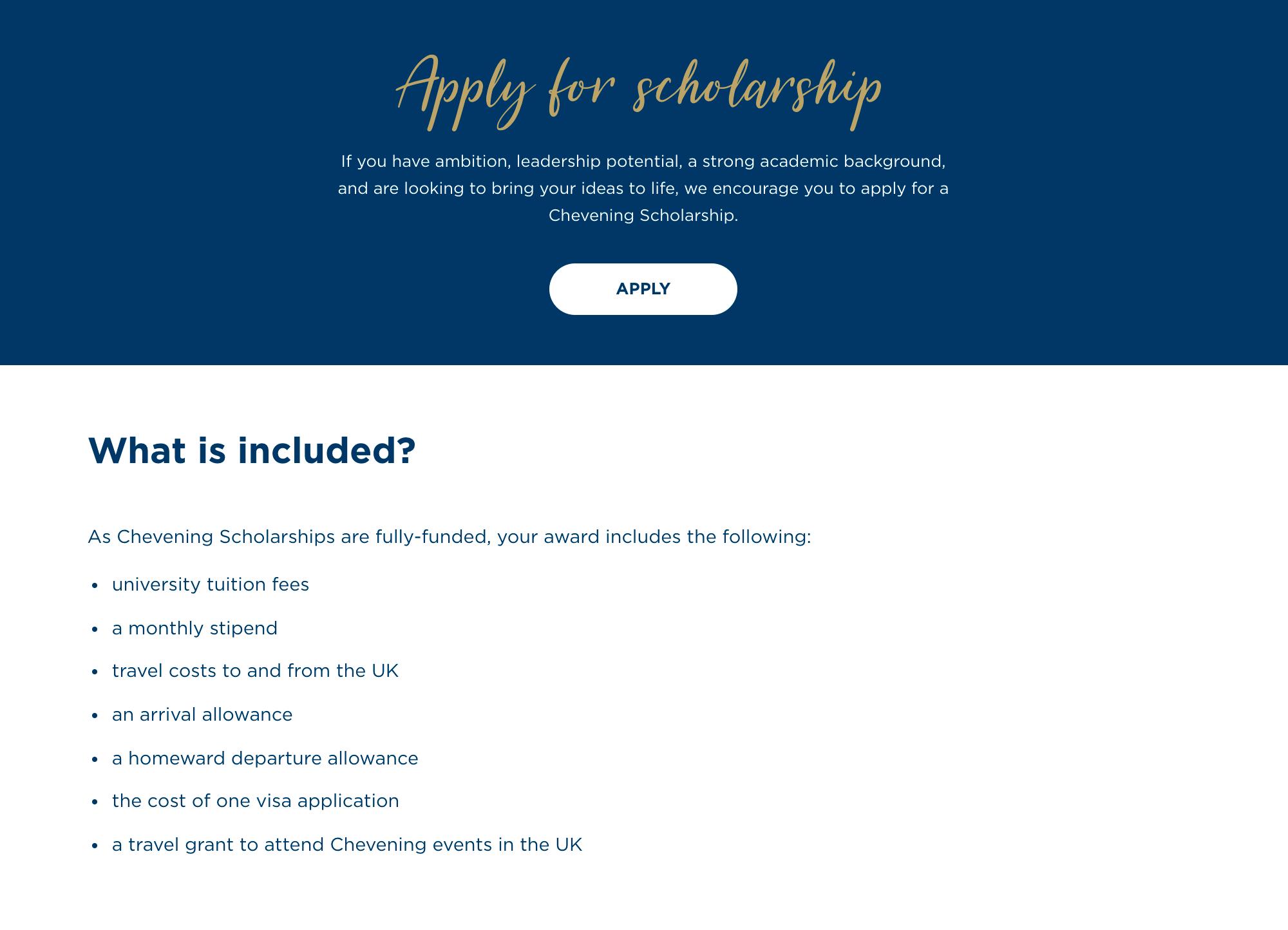 На официальном сайте пишут, что стипендия предназначена дляамбициозных людей с лидерским потенциалом и хорошей академической подготовкой, которые хотелибы изменить мир к лучшему