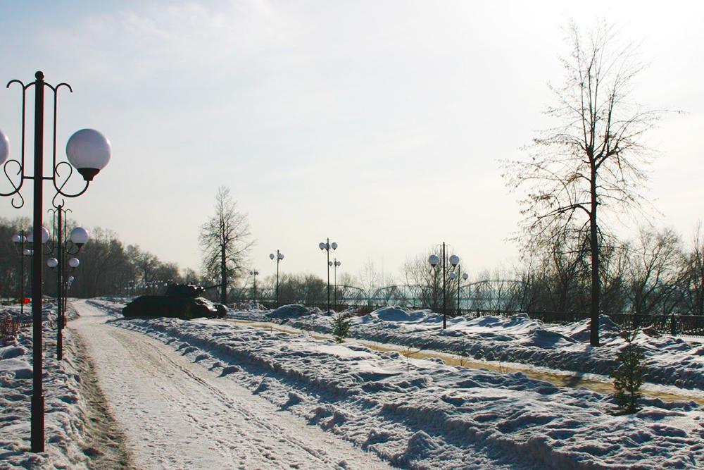 Притомская набережная в Кировском районе. После ремонта стала очень просторной и светлой