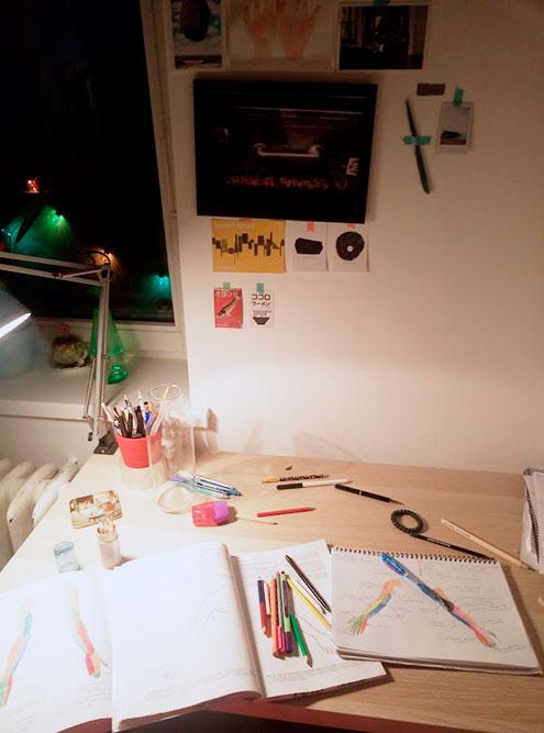 Мой классический выходной на первом курсе: рисую схемы по анатомии для подготовки к практическому занятию