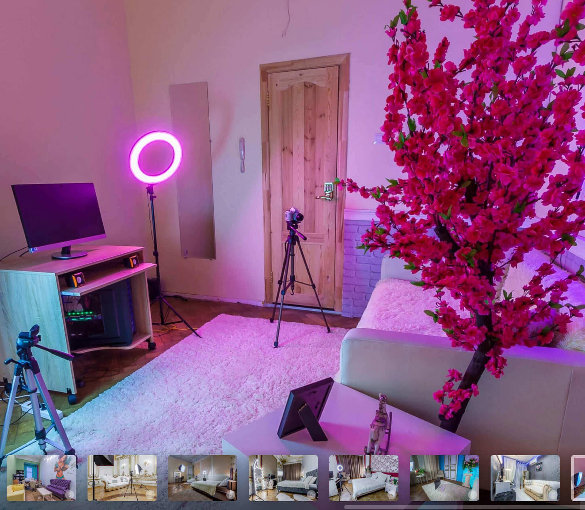 Чтобы привлечь моделей, многие студии публикуют на сайтах фото интерьеров и даже 3D-туры