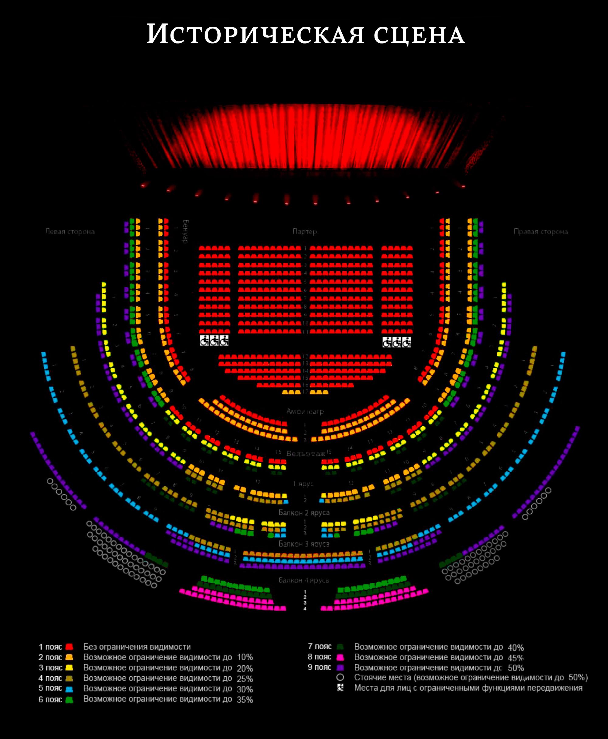 Посмотрите на сайте, как будут выглядеть ваши места, или восхититесь убранством зала на панораме в Google arts & culture. Источник: Большой театр