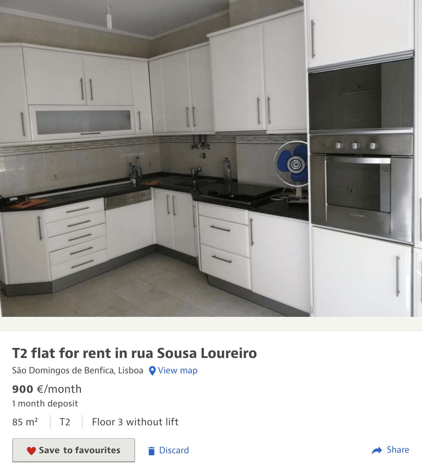 Квартира с кухней, но без&nbsp;мебели, сдается за 900€ (64 636<span class=ruble>Р</span>)