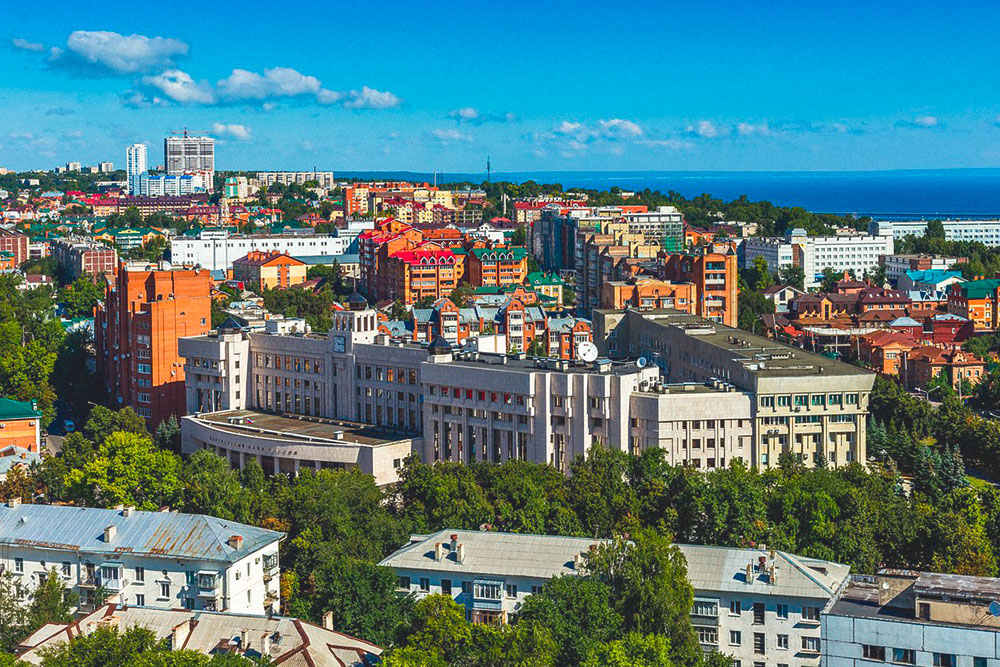 Вид с гостиницы «Венец» — самого высокого здания в Ульяновске