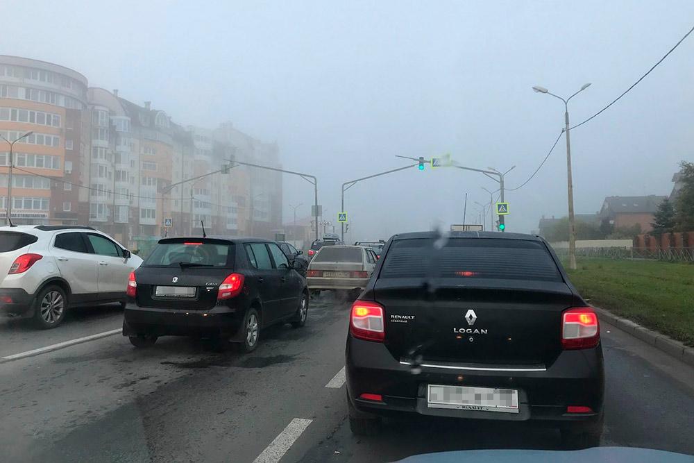 Туман — обычное явление длячереповецкого утра. И вечера