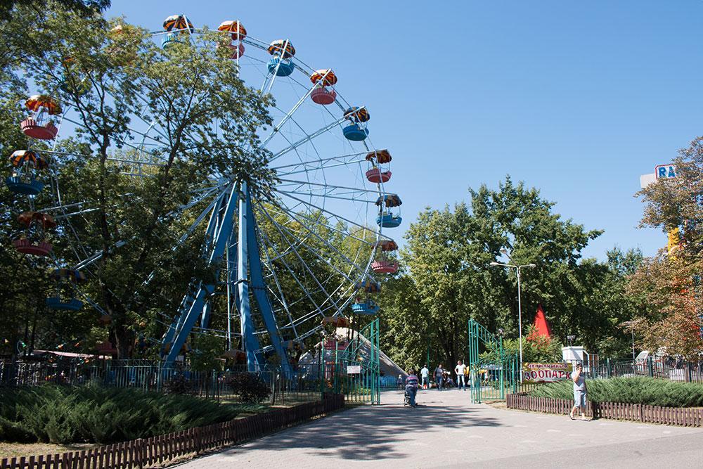 Парк аттракционов в Центральном парке Белгорода