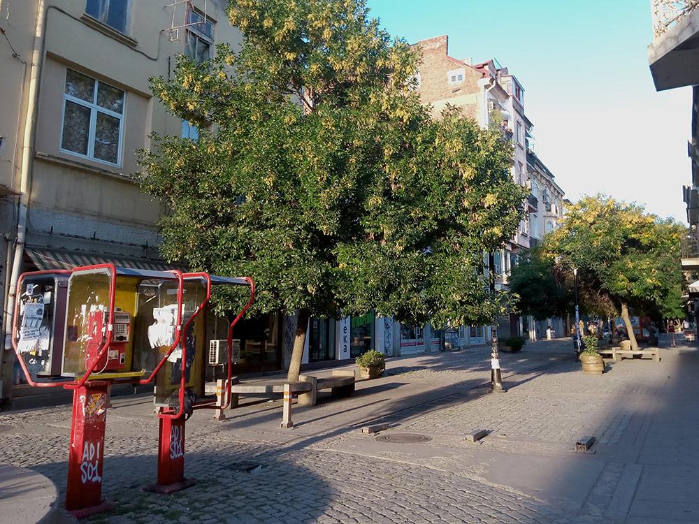 На улицах Софии еще остались старые телефонные будки, но ими никто не пользуется