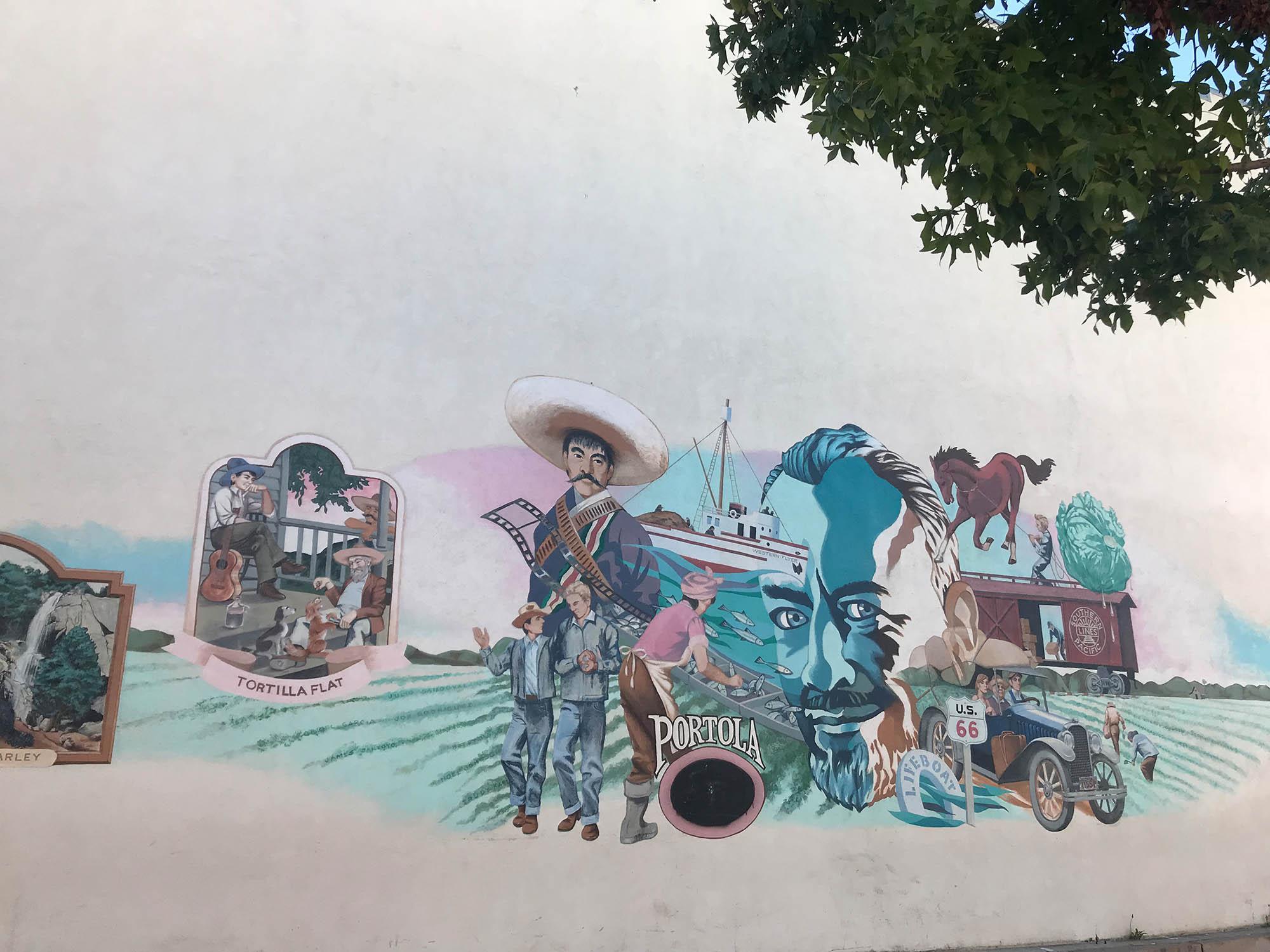 В Салинасе много стрит-арта. Вот стена недалеко от музея Джона Стейнбека