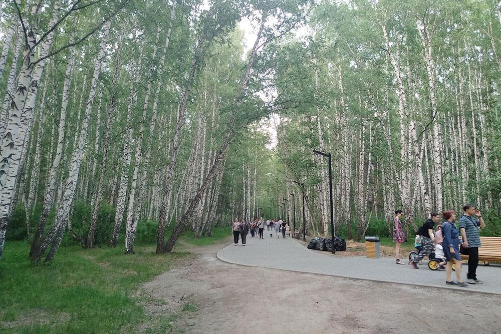 Дорожки и тропинки парка на северо-западе