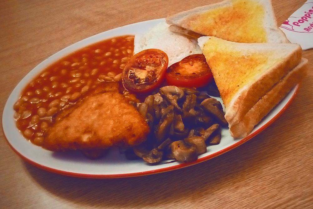 Вегетарианская версия английского завтрака за 5,2£