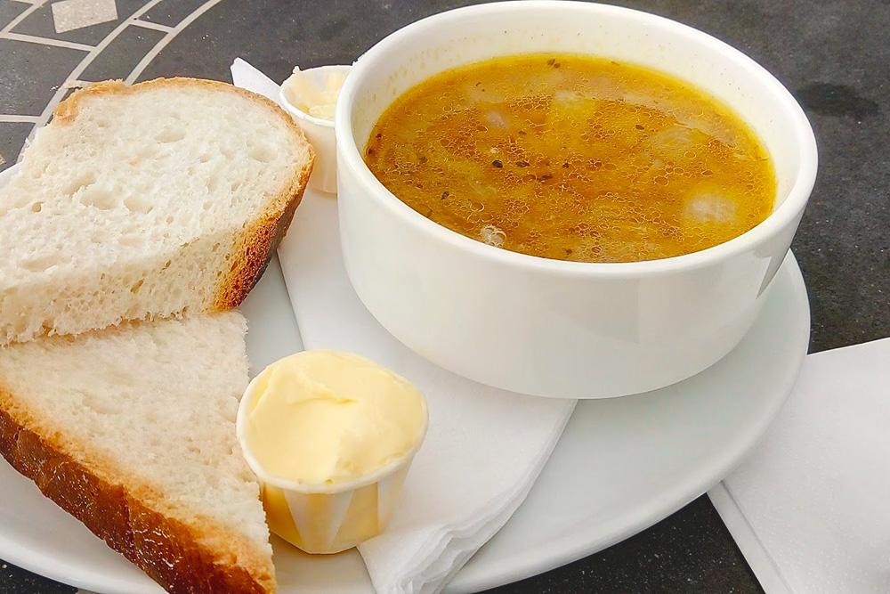 Луковый суп из кафе в Байбери за 5£