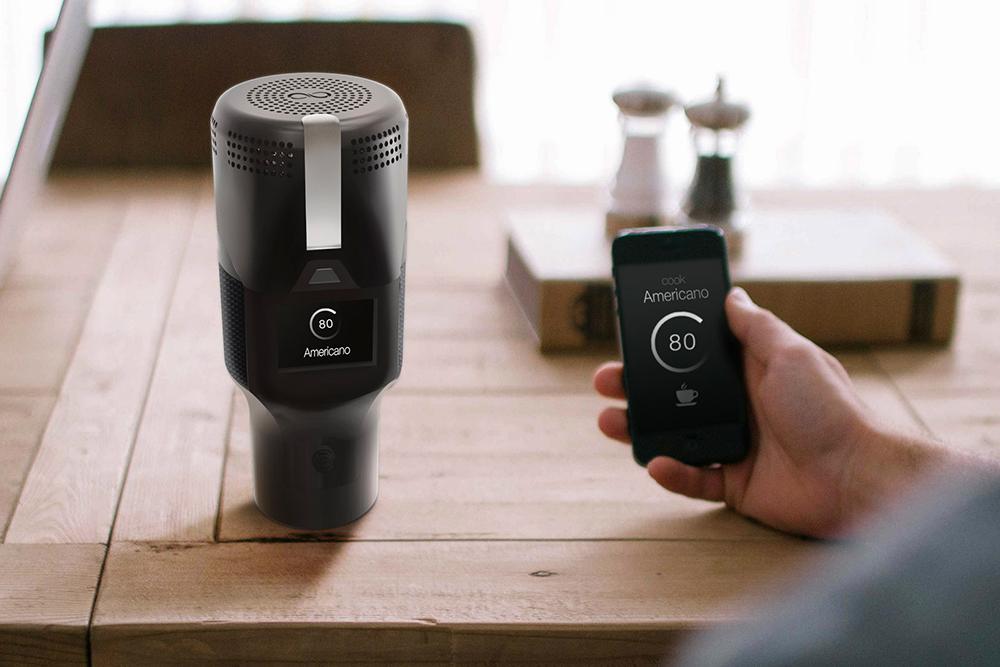 Беспроводная кофемашина размером со стакан — отличное устройство, которое нам не удалось завершить, хотя мы полностью разработали модель и уже начали тестировать прототип