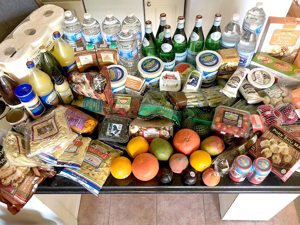 Мои продукты на 5—7 дней из магазина сети Trader's Joe. Все это стоило 160$ (10 486 р.)