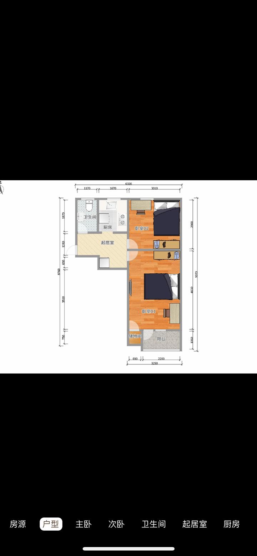 В двухкомнатной квартире за 8490¥ (82 788 р.), которая ближе всего к центральной площади Тяньаньмэнь, стиральная машинка на кухне, а холодильник в коридоре