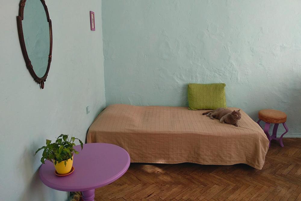 Вместо дивана я купила основание с матрасом за 9590<span class=ruble>Р</span>. Спать на нем удобно, и не только мне. Наши кот Ральф и кошка Мими ведут постоянную борьбу, кто единолично будет валяться на этой кровати. В этот раз победила Мими