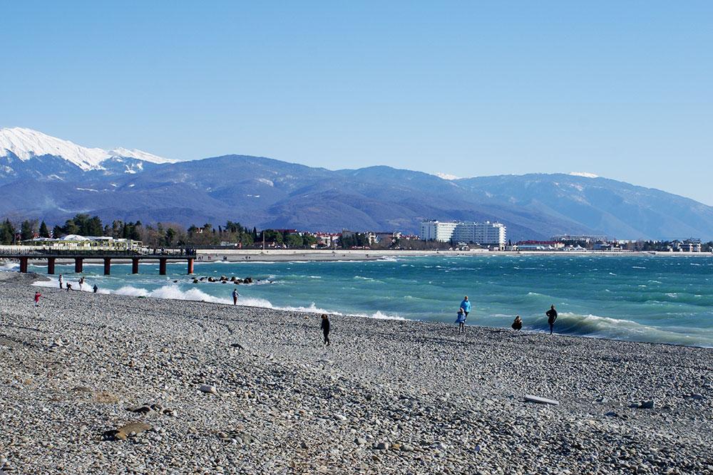 На побережье зимой температура может подниматься до +18°C