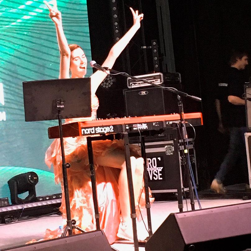 Певица Нина Карлссон на фестивале в «Севкабеле»