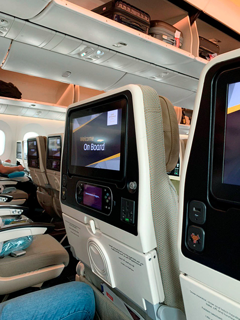 Так выглядит салон самолета авиакомпании Etihad