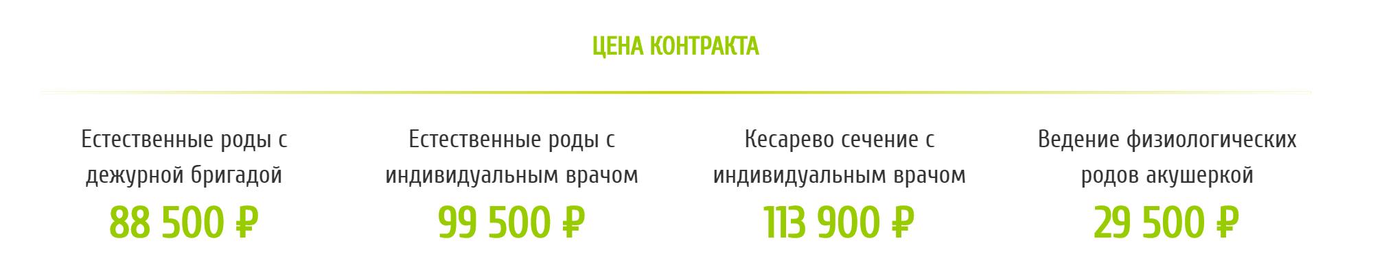 В роддоме при ГКБ № 67 роды с дежурной бригадой на 11 000<span class=ruble>Р</span> дешевле, чем с персональным врачом. А за личную акушерку придется доплатить 29 500<span class=ruble>Р</span>