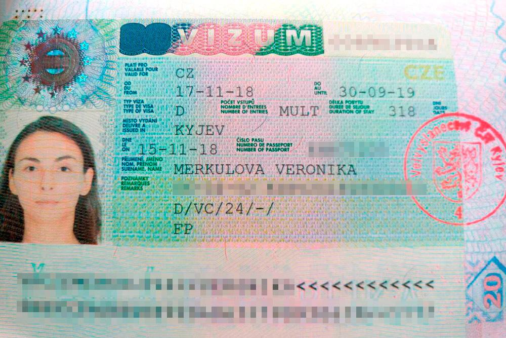 Длительная виза для пребывания в Чешской республике