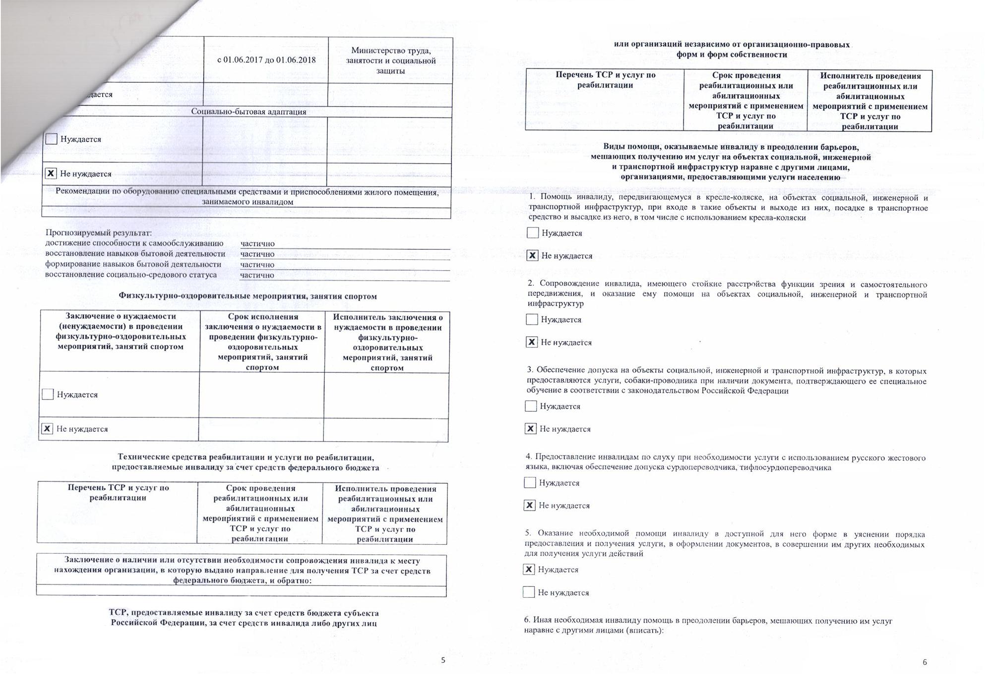 Так выглядит моя ИПРА — индивидуальная программа реабилитации и абилитации