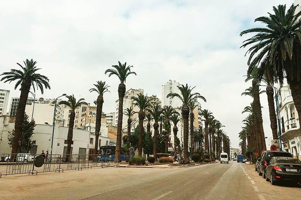 Мы прилетали в Касабланку, поэтому пришлось посмотреть и ее. Касабланка — деловой центр Марокко: здания 9 века соседствуют со стеклянными бизнес-центрами. В целом в городе грязно, много машин и людей