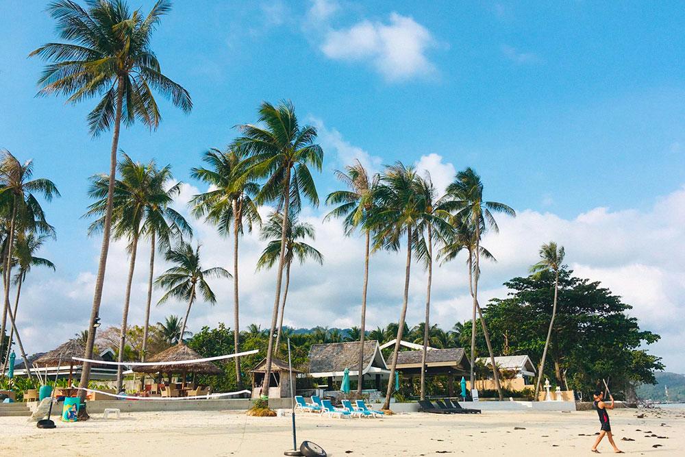 Пляж Ламай после отлива