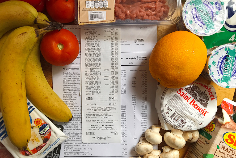 Наш набор продуктов на неделю с доставкой из «Теско»