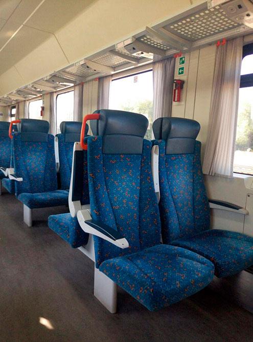Вагон второго класса в поезде, на котором я езжу на учебу