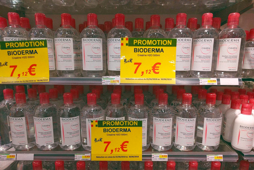 А здесь — в аптеке «Ситифарма». 15,6€ (1108<span class=ruble>Р</span>) за большую бутылку против 7,12€ (506<span class=ruble>Р</span>)