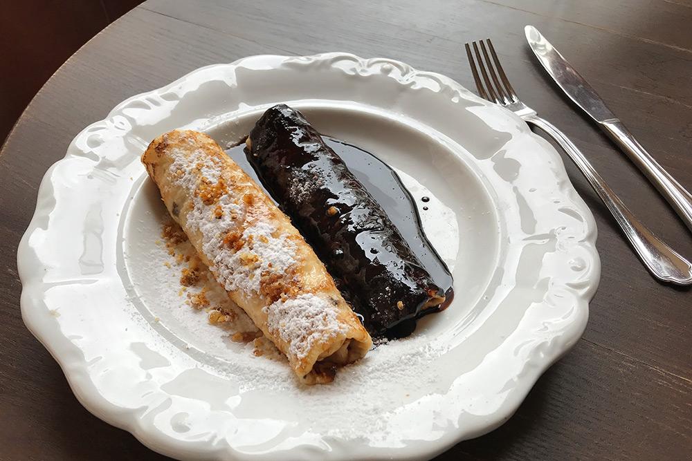 А это традиционный местный десерт — блинчики Гунделя
